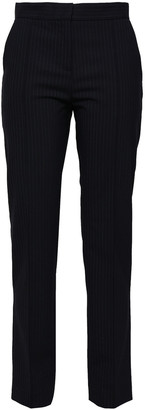 Maje Palere Pinstriped Crepe Straight-leg Pants