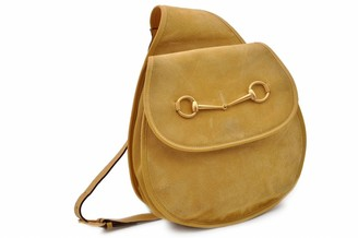 Gucci Yellow Suede Backpacks
