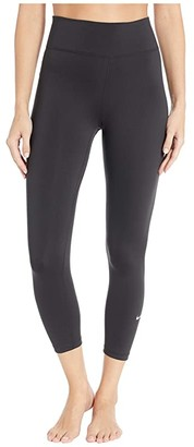 Nike One Crop Tight (Black/White) Women's Casual Pants