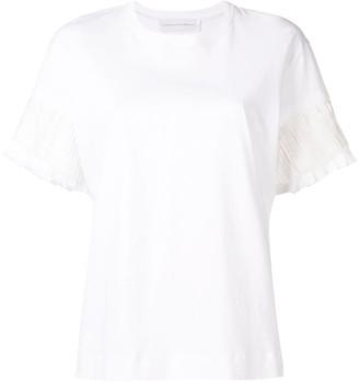 Victoria Victoria Beckham pleated sleeve T-shirt