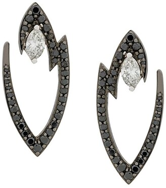 Stephen Webster 18kt white gold Lady Stardust marquise diamond earrings