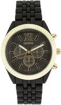 JCPenney GENEVA Womens Coin-Edge Bezel Black Dial Bracelet Watch
