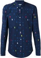 Kenzo letter print shirt - men - Cotton - 40