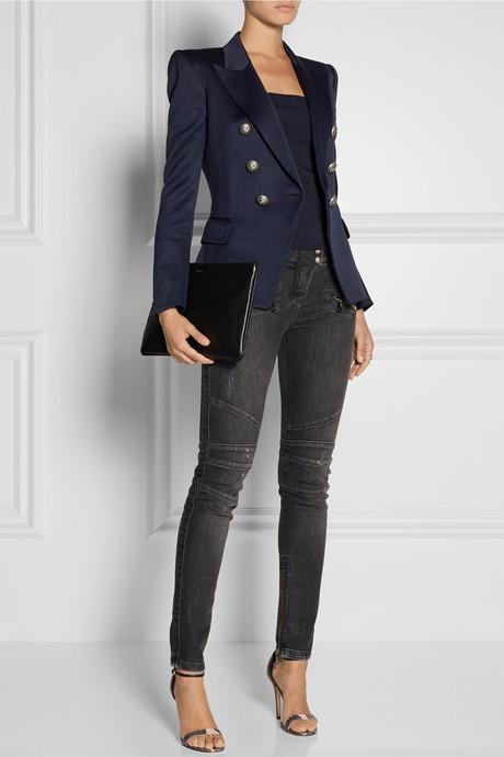Balmain Wool-gabardine blazer