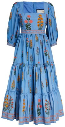 Agua Bendita Floral Miel Dress