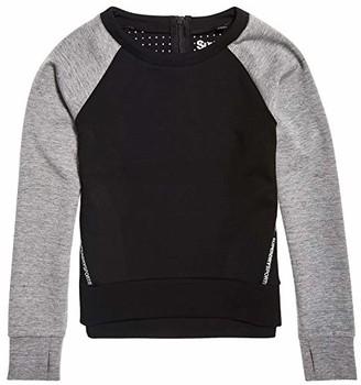 Superdry Women's UK Sizing CORE Gym TECH Panel Crew Neck Pullover Sweatshirt