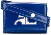 Courreges vinyl box logo waist bag