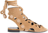 Pierre Hardy Penny lace sandals - women - Leather/Suede - 37