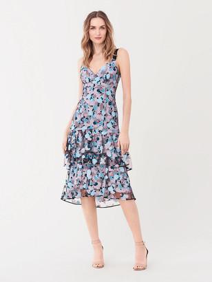 Diane von Furstenberg Aubrielle Embroidered Mesh Dress