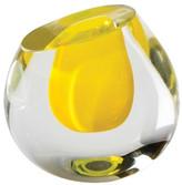 Global Views Color Drop Vase, Lemon