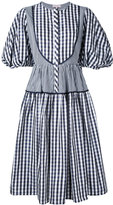 Dice Kayek gingham puff sleeve dress