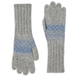 Johnstons of Elgin Cashmere Pixelated Fairisle Glove