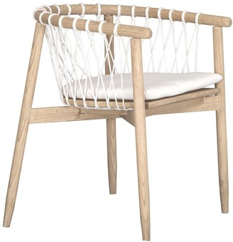 Uniqwa Arniston Dining Chair Natural And White