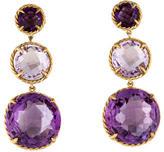 David Yurman 18K Amethyst Chatelaine Earrings