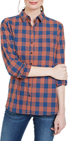 Fat Face Olivia Check Shirt, Indigo