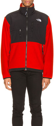 The North Face Black ICON 95 Retro Denali Jacket in Fiery Red | FWRD