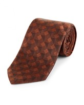 Jaeger Silk Geometric Tie