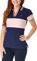 U.S. Polo Assn. Medieval Blue Color Block Polo