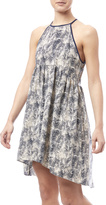 Paper Crane Printed Hi-Low Dress