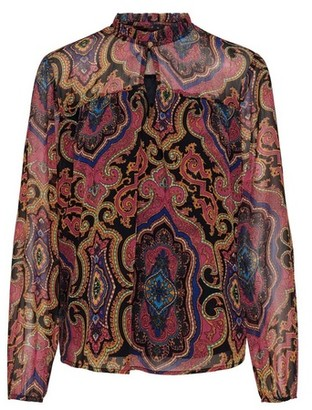 Dorothy Perkins Womens Only Navy And Pink Paisley Print Top