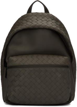 Bottega Veneta Grey Intrecciato Medium Backpack