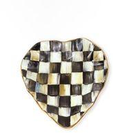 Mackenzie Childs MacKenzie-Childs Courtly Check Ceramic Heart Plate