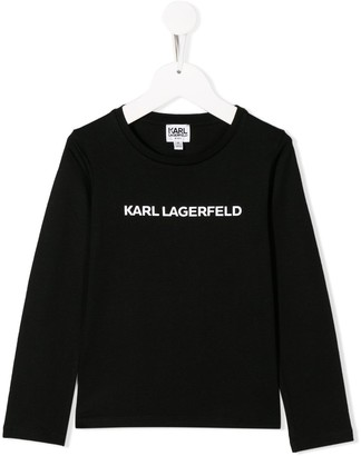 Karl Lagerfeld Paris logo print longsleeved T-shirt
