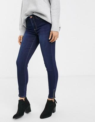 Pieces Jamie high waist ankle grazer skinny jeans