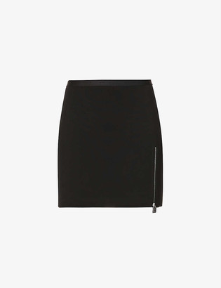 Alyx Branded high-waisted stretch-woven mini skirt