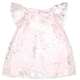 Biscotti Girls' Casual Dresses PINK - Pink Floral-Accent Flutter-Sleeve Dress - Infant, Toddler & Girls