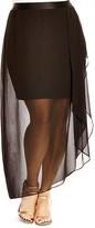 City Chic Draped Illusion Skirt