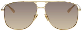 Gucci Gold Aviator Sunglasses