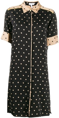 Escada Sport Polka-Dot Shirt Dress