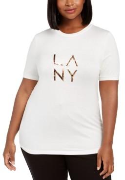 Lala Anthony Trendy Plus Size Embellished Logo T-Shirt