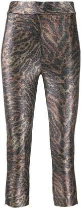 Ganni animal print leggings