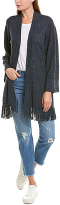Minnie Rose Dodge Fringe Linen-Blend Cardigan
