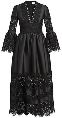 Erdem Irmina Mikado Lace Dress
