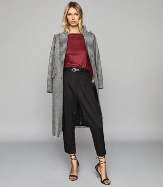 Reiss Marilyn - Straight Neck Top in Berry