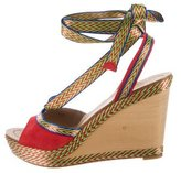 Belle by Sigerson Morrison Suede Lace-Up Wedges