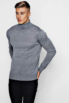 boohoo Long Sleeve Knitted Roll Neck Jumper