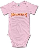 LADOLADO Popular Thrash Metal Band Megadeth Baby Onesie Newborn Baby Clothes