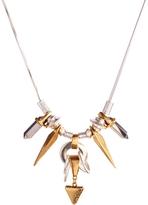 Pilgrim Silver Plated Spike Detail Necklace