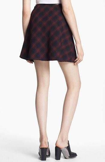 3.1 Phillip Lim Flared Plaid Skirt
