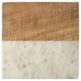 Thirstystone White Marble With Acacia Square Trivet