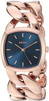 DKNY Women's 'Chanin' Quartz Stainless Steel Casual Watch, Color:Rose Gold-Toned (Model: NY2568)