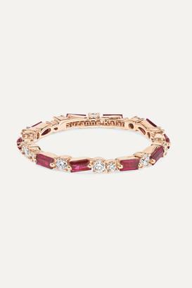 Suzanne Kalan 18-karat Rose Gold, Ruby And Diamond Ring - 7
