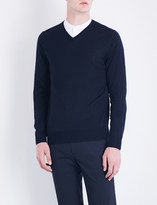 Sandro V-neck close-knit wool jumper