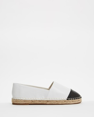 Atmos & Here Atmos&Here - Women's White Flats - Riviera Leather Espadrilles - Size 37 at The Iconic