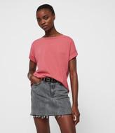 AllSaints Women's Cotton Lightweight Imogen Boy T-Shirt, White, Size: XS/S
