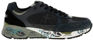 Premiata Sneakers Mase Sneakers In Suede And Lurex Mesh